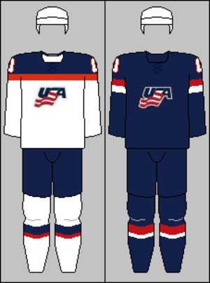 United States men's national ice hockey team - Image: USA national hockey team jerseys 2014