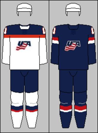 United States men's national ice hockey team - Image: USA national hockey team jerseys 2014