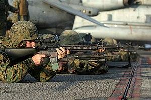 31st Marine Expeditionary Unit - Image: USMC M16A4 Rifle