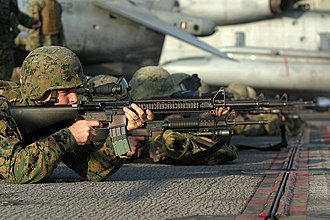 31st Marine Expeditionary Unit - Image: USMC M16A4 Rifle
