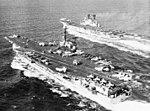 USS Forrestal (CVA-59) and HMS Ark Royal (R09) underway in the Mediterranean Sea c1973.jpg