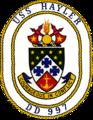 USS Hayler (DD-997) crest.png