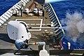 USS Hué City fires an MK-45 5-inch gun during a live-fire exercise. (32519145215).jpg