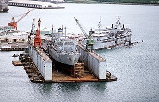 large auxiliary floating drydock of the US Navy