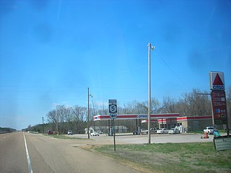 Mississippi Highway 5 - US 72 westbound at northern terminus of MS 5