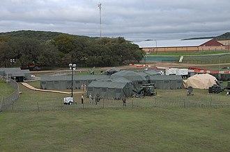 Camp Bullis - Forward command post at Camp Bullis during the PANAMAX annual exercise, 2009