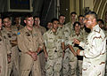 US Navy 061018-N-3003C-116 Master Chief Petty Officer of the Navy (MCPON) Joe Campa, Jr., discusses Individual Augmentation (IA) matters with Sailors assigned to Patrol Squadron Nine (VP-9) and Fleet Air Recon Squadron 1 during.jpg
