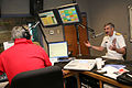 US Navy 070316-N-3271W-001 Commander, U.S. Second Fleet, Vice Adm. Evan M. Chanik is interviewed by Alan Michaels, radio morning host on KWFM AM 1450.jpg