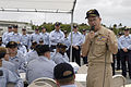 US Navy 070507-N-0696M-183 Chief of Naval Operations (CNO) Adm. Mike Mullen answers questions from the crew of the guided missile destroyer USS Russell (DDG 59) during an all hands call on the fantail.jpg