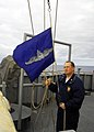 US Navy 081001-N-5148B-011 Senior Chief Quartermaster Joseph Lennon raises the Enlisted Surface Warfare Pennant.jpg