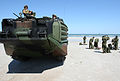 US Navy 090425-M-9917S-288 U.S. and partnership nation marines regroup after assaulting Mayport Beach during a Unitas Gold amphibious assault exercise.jpg