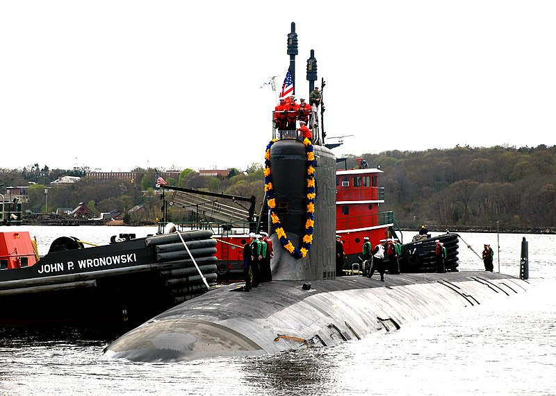 File:US Navy 100413-N-3090M-187 USS Virginia (SSN 774) returns to Naval Submarine Base New London after her maiden six-month deployment.jpg