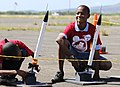 US Navy 110208-N-WP746-093 Students from Pearl Harbor Kai Elementary School prepare to launch homemade rockets at Ford Island as part of their grad.jpg