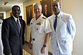 US Navy 110713-N-FC670-122 Chief of Naval Operations (CNO) Adm. Gary Roughead speaks with attendees at the Department of the Navy tribute to Africa.jpg