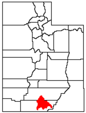 Kaiparowits Plateau - Location of the Kaiparowits Plateau within Utah