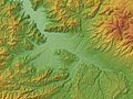 Ueda Basin Relief Map, SRTM-1.jpg