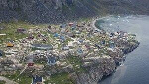 Ukkusissat - Aerial view of Ukkusissat