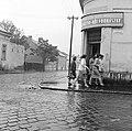 Ulica Zeleznicna, balra az ulica Jókaiho. Fortepan 53913.jpg