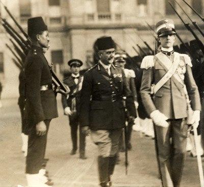 Umberto II visiting Cairo