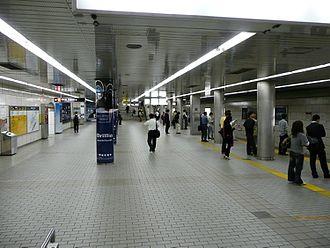 Umeda Station - Platform 1 (for southbound trains)