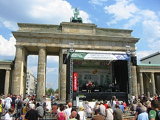 World Environment Day - Stage in front of the Brandenburg Gate on Environmental Festival 2011