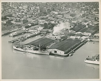 Port of Charleston - Union Pier Terminal in the 1950s.