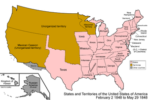 Territorial evolution of California - An enlargeable map of the United States after the Treaty of Guadalupe Hidalgo in 1848