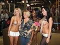 Unknown starlets at AVN Adult Entertainment Expo 2008.jpg