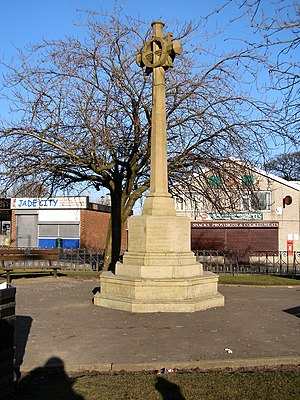 Listed buildings in Whitefield, Greater Manchester - Image: Unsworth Pole War Memorial geograph.org.uk 1741873