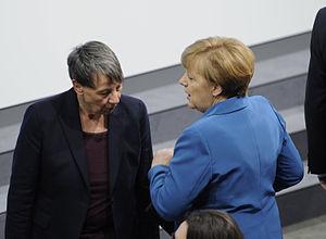 Barbara Hendricks (politician) - Barbara Hendricks and Angela Merkel in 2013