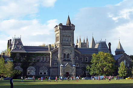 University College at the University of Toronto. University College is one of eleven colleges at the University of Toronto. Uoft universitycollege.jpg
