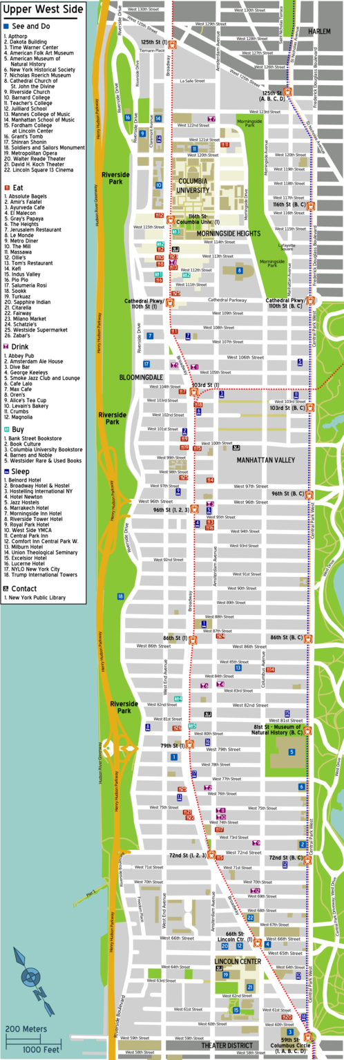 Map of Manhattan/Upper West Side