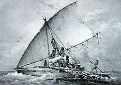 Antica canoa Fijiana