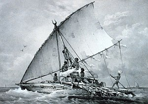 Culture of Fiji - Drua, the most impressive Fijian canoe