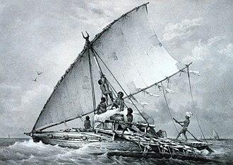 Culture of Fiji - Drua, the most impressive Fijian canoe