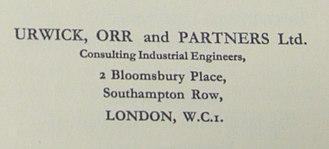 Lyndall Urwick - Image: Urwick Orr & Partners (1934)