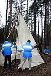 Using parachute to build a teepee (6471224575).jpg