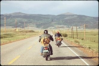 DOCUMERICA - Image: VACATIONERS ON MOTORCYCLES NARA 544844