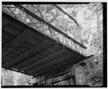 VIEW OF SOUTH ABUTMENT AND DECK STRUCTURE - Oak Knoll Park Bridge, Oak Knoll Park, Massillon, Stark County, OH HAER OHIO,76-MASS,1-6.tif
