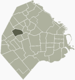 Location of Villa del Parque within Buenos Aires