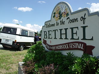 Bethel, New York - Roadtrippers with a vintage VW camper making a pilgrimage to Bethel, NY (circa 2012).