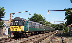 British Rail Class 310 - The V Train on the DC system pictured in the New Sidings at Ramsgate - the Class 423 (4-VEP) is the second vehicle.