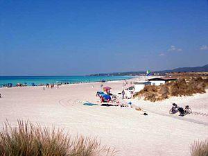 "Rosignano Solvay - View of the ""White Beaches""."