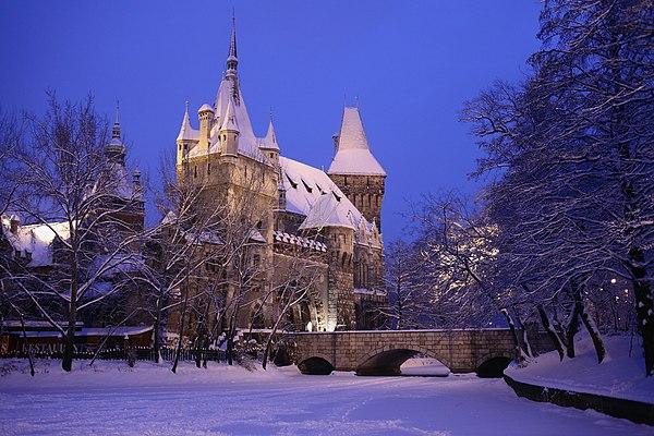 Vajdahunyad Castle in City Park, Budapest, Hungary. Author: Szvitek Péter, CC-BY 2.5.