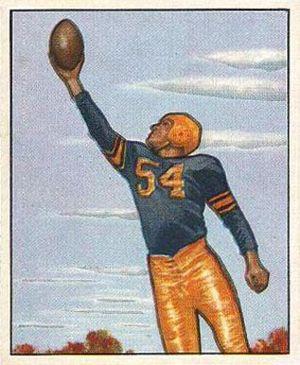 Val Jansante - Jansante on a 1950 Bowman football card