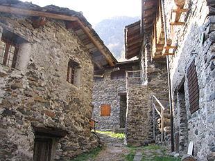 L'antico borgo di Maslana, recentemente ristrutturato