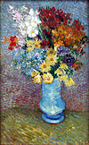 Van Gogh - Flowers in a blue vase - June 1887.jpg