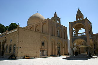 Iranian Armenians - Vank Cathedral in the New Julfa district of Isfahan. One of the oldest of Iran's Armenian churches, built during the Safavid Persian Empire, 1655 - 1664.