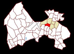 Koivukylä - Image: Vantaa districts Koivukyla