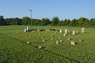 Cedar Creek Lake (Kentucky) - Vardeman-Holmes-Stephenson Cemetery, relocated during lake construction